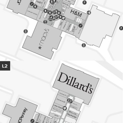 Governor's Square plan - map of store locations