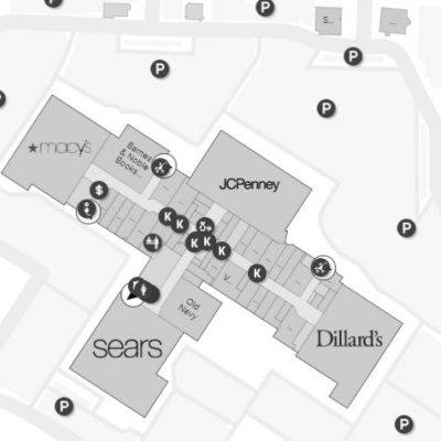 Grand Teton Mall plan - map of store locations