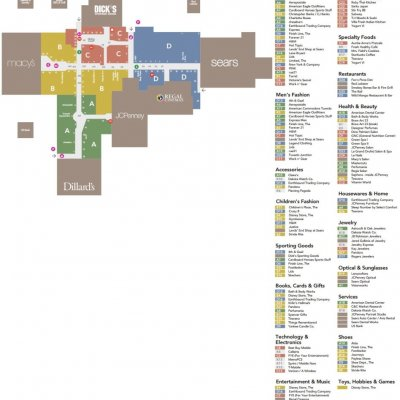 Great Northern Mall plan - map of store locations