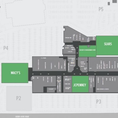 Green Acres Mall plan - map of store locations