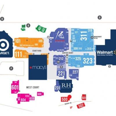 Grossmont Center plan - map of store locations