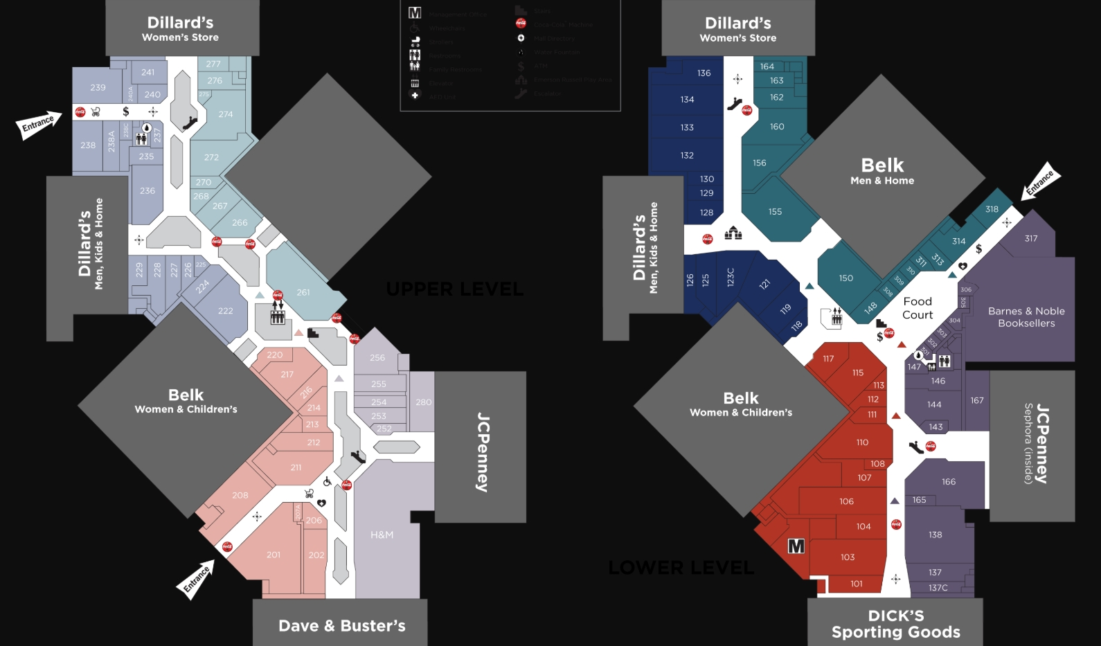 Hamilton Place Mall Map Hamilton Place (204 stores)   shopping in Chattanooga, Tennessee