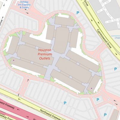 Houston Premium Outlets plan - map of store locations