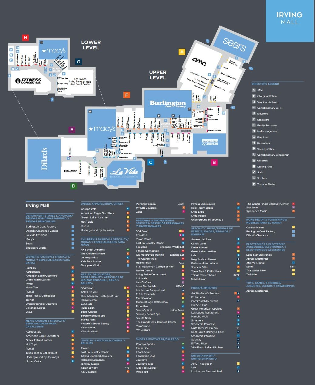 Irving Mall Map Irving Mall (114 stores)   shopping in Irving, Texas TX 75062  Irving Mall Map