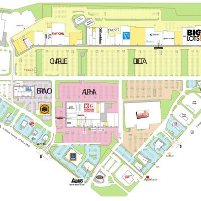 Janaf Shopping Yard plan - map of store locations