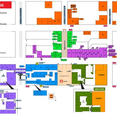 Japan Center plan - map of store locations