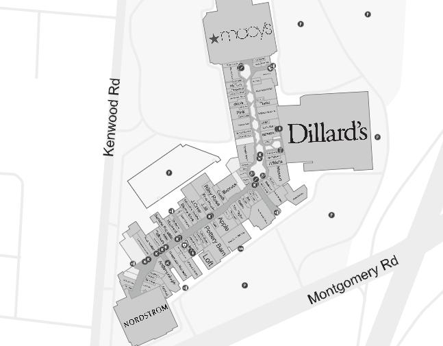Kenwood Towne Center Map Kenwood Towne Centre (165 stores)   shopping in Cincinnati, Ohio  Kenwood Towne Center Map