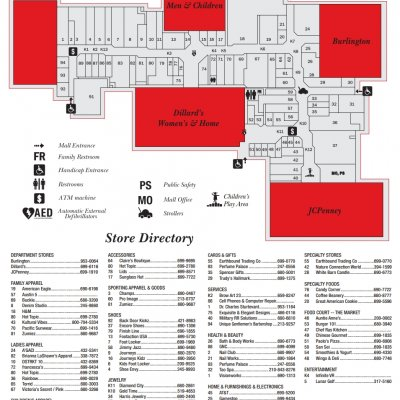 Killeen Mall plan - map of store locations