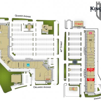 Kingsgate Center plan - map of store locations