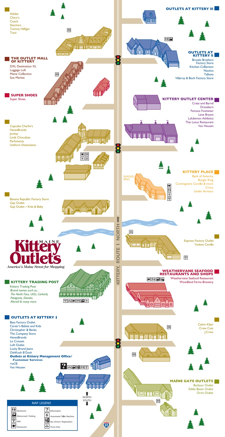 Kittery Outlets Map Kittery Outlets (57 stores)   outlet shopping in Kittery, Maine ME  Kittery Outlets Map