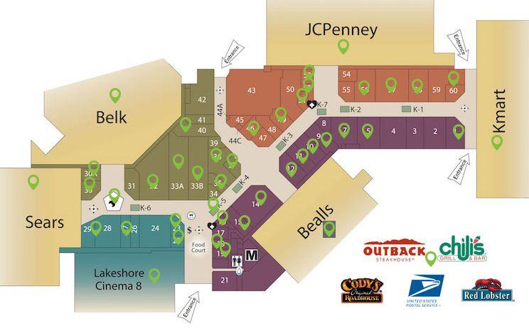 Sebring Florida Map.Lakeshore Mall 45 Stores Shopping In Sebring Florida Fl 33870