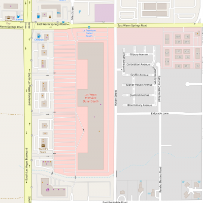 Las Vegas South Premium Outlets plan - map of store locations