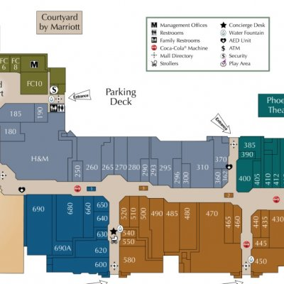 Laurel Park Place plan - map of store locations