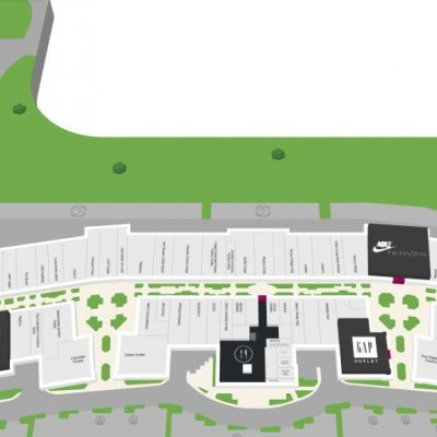 Leesburg Corner Premium Outlets plan - map of store locations