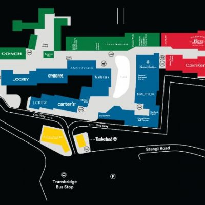 Liberty Village Outlet Marketplace plan - map of store locations