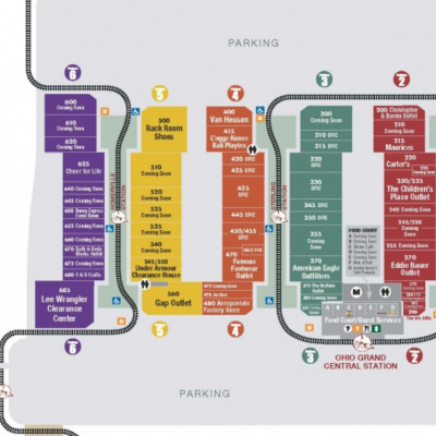 Lodi Station Outlets plan - map of store locations