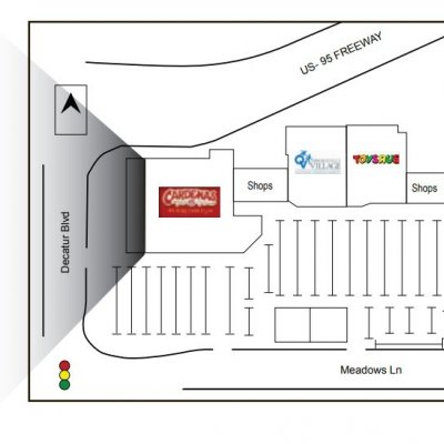 Loma Vista Shopping Center plan - map of store locations