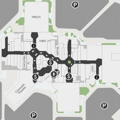 Louis Joliet Mall plan - map of store locations