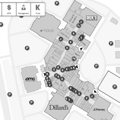 Lynnhaven Mall plan - map of store locations