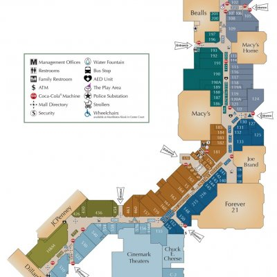 Mall del Norte plan - map of store locations