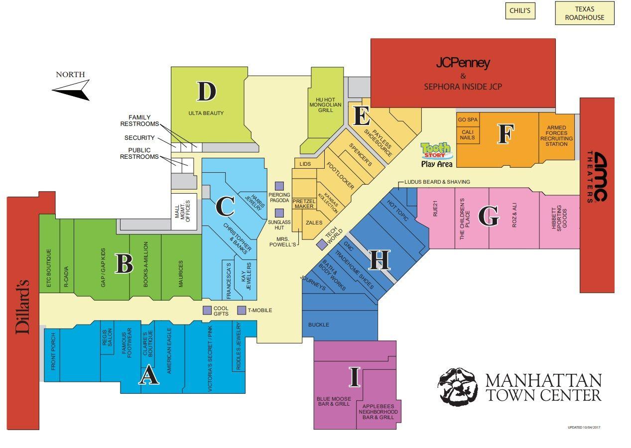 Map Of Manhattan Kansas.Manhattan Town Center 53 Stores Shopping In Manhattan Kansas Ks