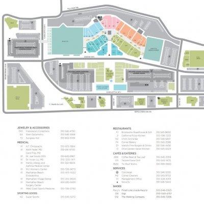 Manhattan Village plan - map of store locations