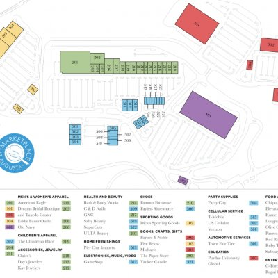 Marketplace at Augusta plan - map of store locations