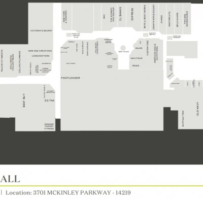 McKinley Mall plan - map of store locations