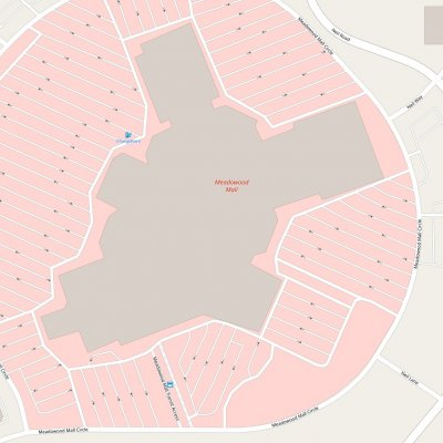 Meadowood Mall plan - map of store locations