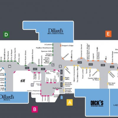 Melbourne Square plan - map of store locations