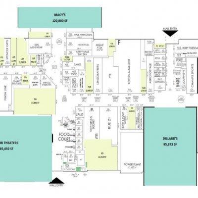 Merritt Square Mall plan - map of store locations
