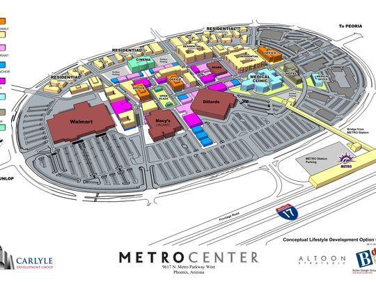 Metro Center Map Metrocenter (175 stores)   shopping in Phoenix, Arizona AZ 85051