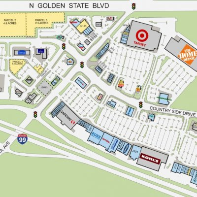Monte Vista Crossings plan - map of store locations