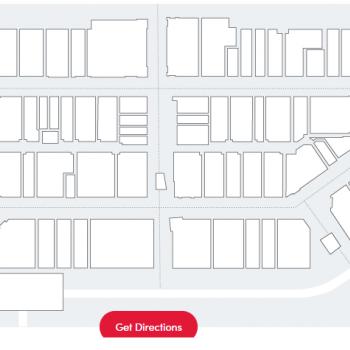 Nebraska Crossing Outlets plan - map of store locations