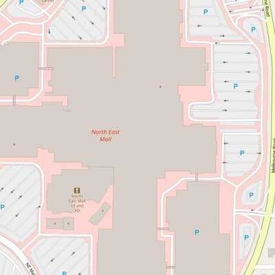 North East Mall plan - map of store locations
