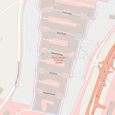 North Georgia Premium Outlets plan - map of store locations