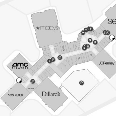 North Point Mall plan - map of store locations