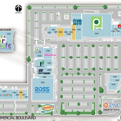 Northridge Shopping Center plan - map of store locations