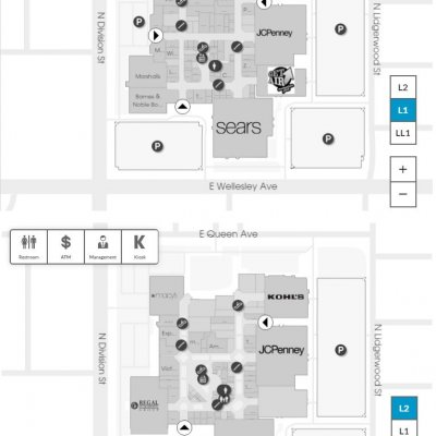 NorthTown Mall plan - map of store locations