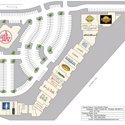 One Pacific Place plan - map of store locations