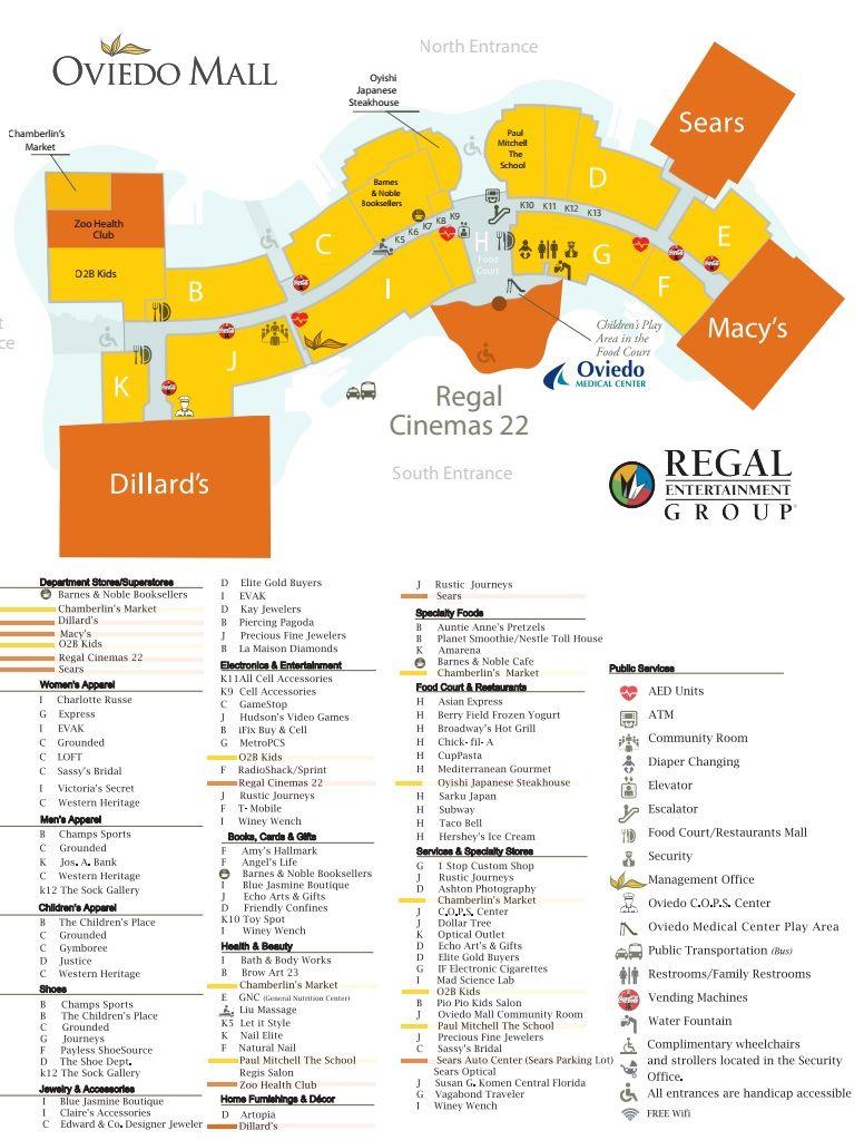 Oviedo Mall 85 stores shopping in Oviedo Florida FL 32765
