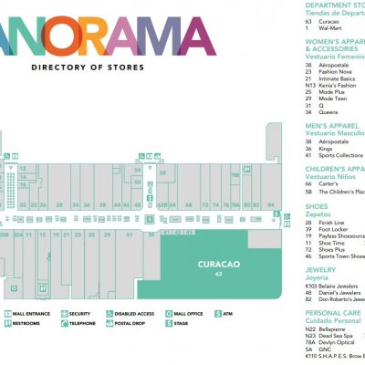 Panorama Mall plan - map of store locations