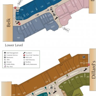 Parkway Place Mall plan - map of store locations