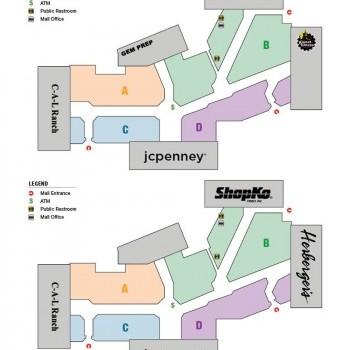 Pine Ridge Mall plan - map of store locations