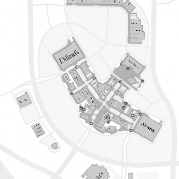 Pinnacle Hills Promenade plan - map of store locations