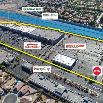 Rainbow Promenade Shopping Center plan - map of store locations