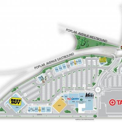 Ridgeway Trace Center plan - map of store locations