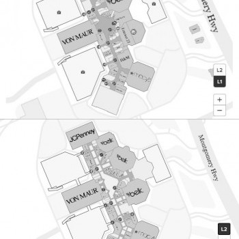 Riverchase Galleria Mall plan - map of store locations