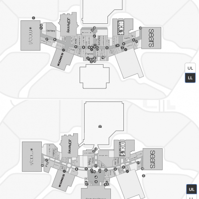 RiverTown Crossings plan - map of store locations