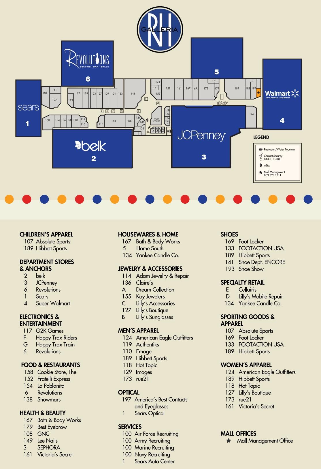 Rock Hill Galleria  52 Stores